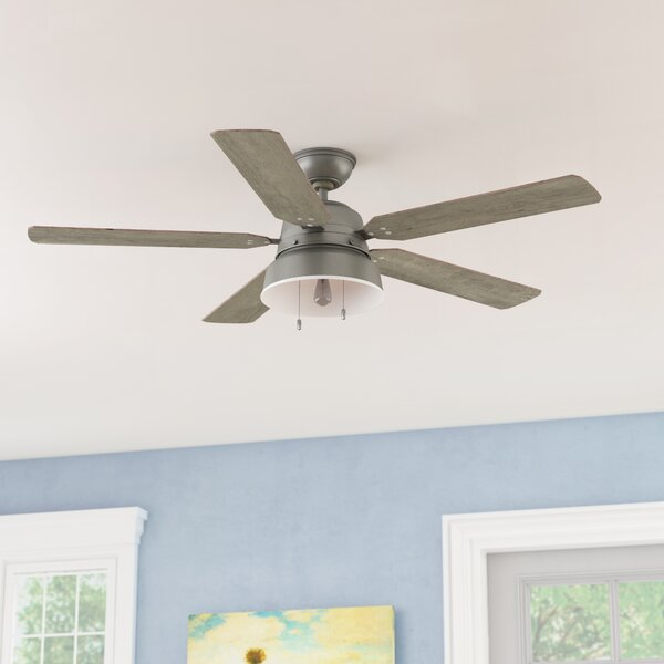 """Shop 52"""" Mill Valley 5 - Blade LED Standard Ceiling Fan with Pull Chain and Light Kit Included from Wayfair on Openhaus"""
