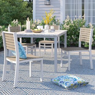 Caspian Stacking Patio Dining Chair (Set of 4)