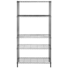 5 Tier Chrome Wire Shelving Unit by Latitude Run