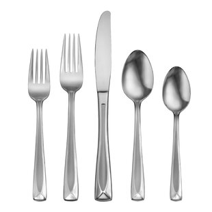 Satin Lincoln 45 Piece Flatware Set, Service for 8