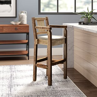 Abella 30 Solid Wood Bar Stool by Loon Peak