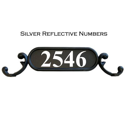Charleston 1-Line Mailbox Sign Addresses of Distinction Customize: Yes, Font: Silver Reflective