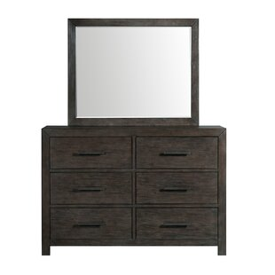 Mccorkle 6 Drawer Double Dresser with Mirror