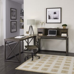 Witham Other L-Shape Writing Desk with Hutch and Chair Set