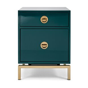 Top Reviews Zoe Modern Wooden 2 Drawer Chest by Mercer41