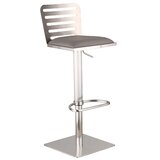 Delmar Swivel Adjustable Height Bar Stool by Armen Living