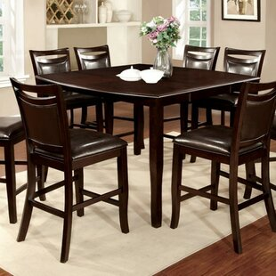 Quinney Transitional Counter Height Solid Wood Dining Table Winston Porter
