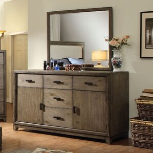 Karla 5 Drawer Combo Dresser with Mirror by Hokku Designs