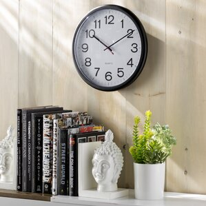 Wayfair Basics Indoor/Outdoor Round Wall Clock