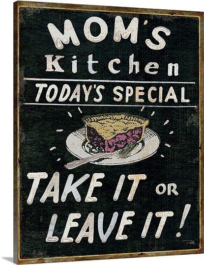 Great Big Canvas \'Mom\'s Kitchen\' Textual Art & Reviews | Wayfair