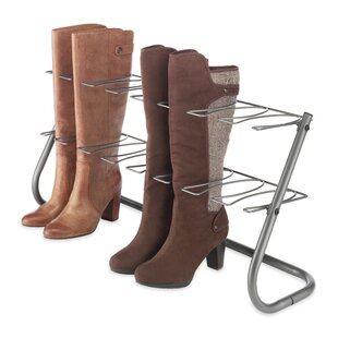 Affordable Gunmetal 4 Pair Boot Storage By Rebrilliant