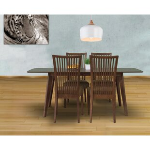 Bohostice 5 Piece Solid Wood Dining Set Latitude Run