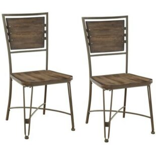 Brandenburg Solid Wood Dining Chair (Set of 2) Williston Forge