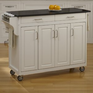 Regiene Kitchen Island with Granite Top
