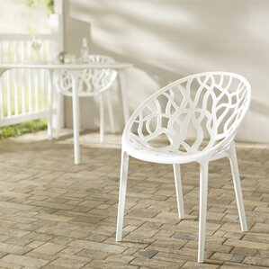 Metrocles Stacking Patio Dining Chair (Set Of 2)