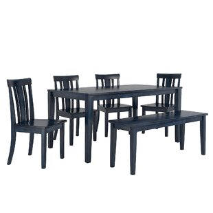 Alverson 6 Piece Dining Set by August Grove Comparison