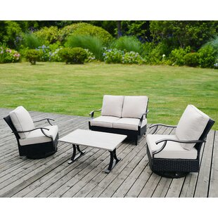 Angus 4 Piece Sofa Set with Cushions