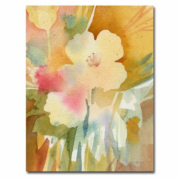 Trademark Art Ochre Garden View By Sheila Golden Painting Print On Canvas Wayfair