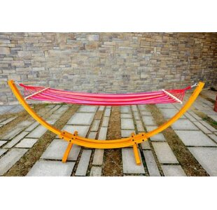 Gadson Arc Patio Cotton Hammock with Stand