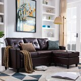 Sylvette 78.5 Reversible Sofa & Chaise with Ottoman by Winston Porter