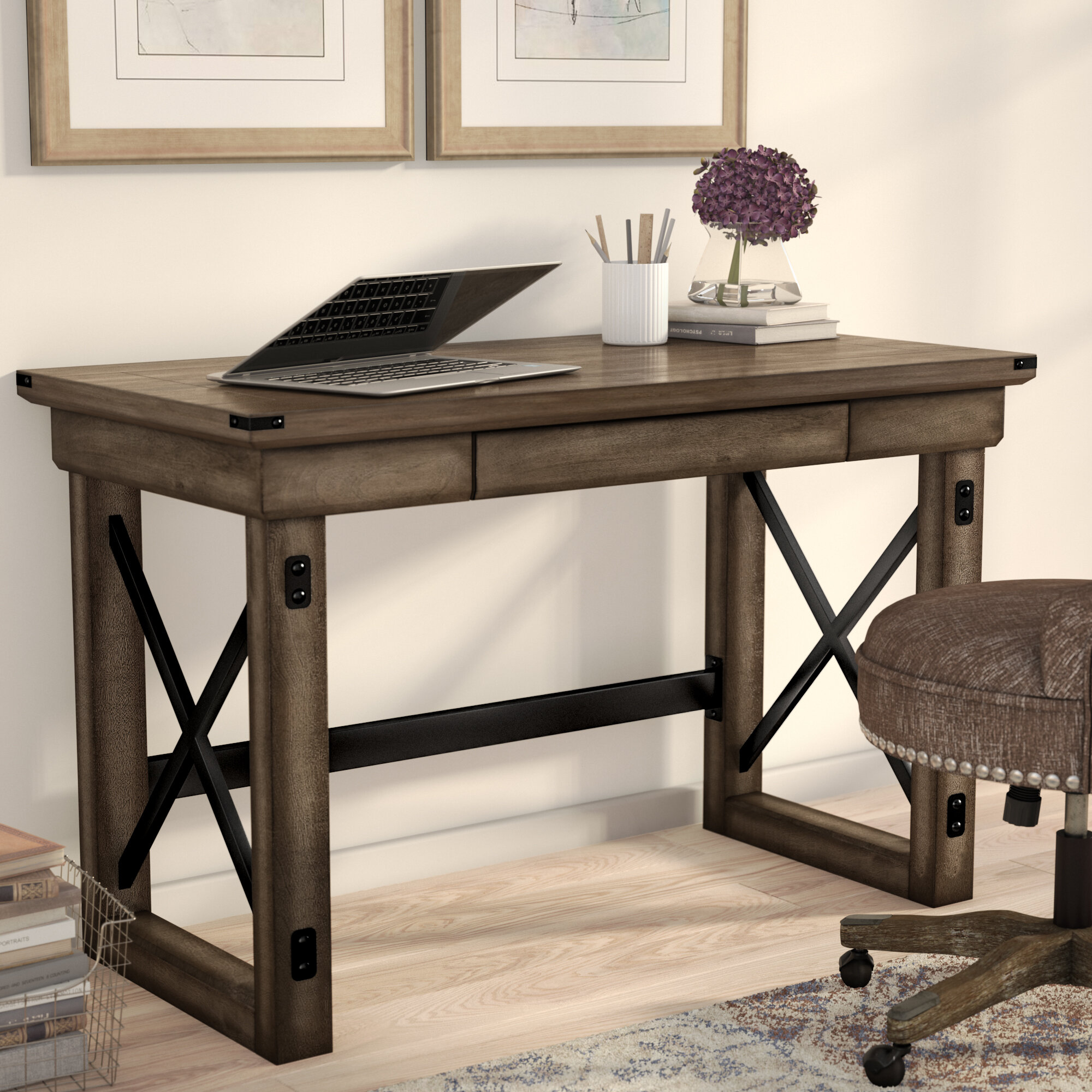 Laurel Foundry Modern Farmhouse Gladstone Writing Desk Reviews Wayfair