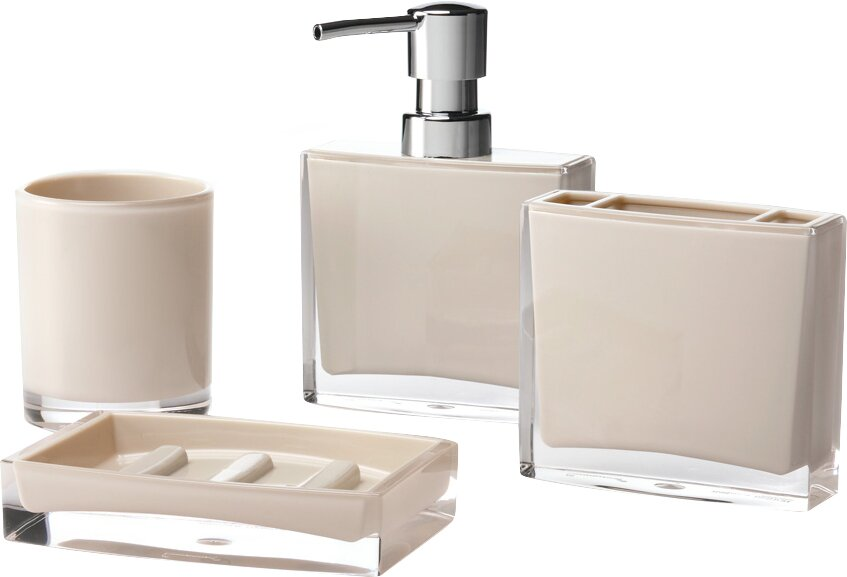 Immanuel Iced Piece Bathroom Accessory Set Reviews Wayfair