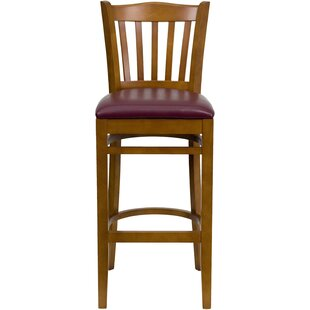 Orland Vertical Slat Back Wood 31 Bar Stool Charlton Home
