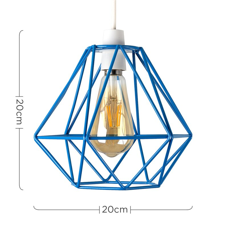 MiniSun 20cm Diablo Metal Wire Frame Ceiling Pendant Shade & Reviews ...