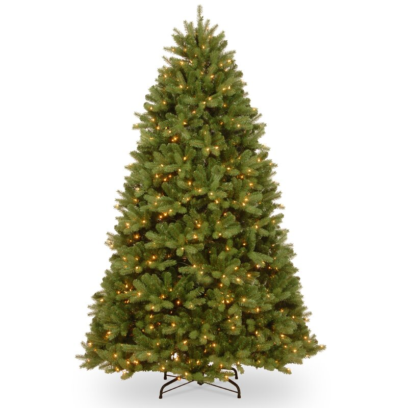 Green And White Christmas Tree: The Holiday Aisle Green Spruce Tree Artificial Christmas