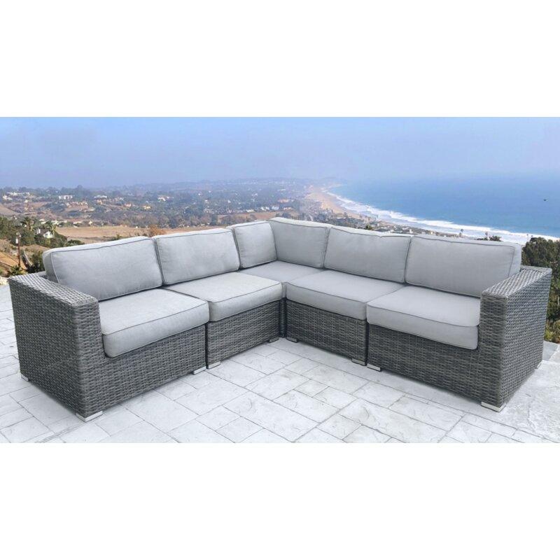 Eldora Patio Sectional With Cushions Reviews Joss Main