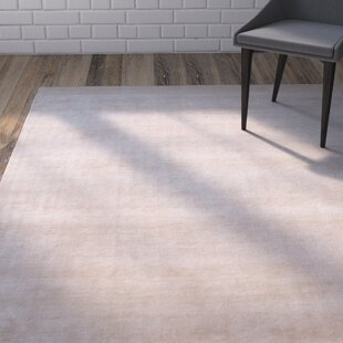 Compare prices Morley Solid Ivory/White Rug By Ivy Bronx