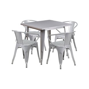 Cotter Metal 5 Piece Dining Set by Zipcode Design Great Reviews