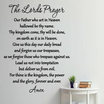 VWAQ The Lord's Prayer Bible Wall Decal & Reviews | Wayfair