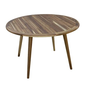 Mayo Mid-Century Modern Indoor/Outdoor Solid Wood Dining Table