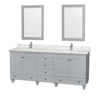 Acclaim 80 Double Bathroom Vanity Set with Mirror by Wyndham Collection