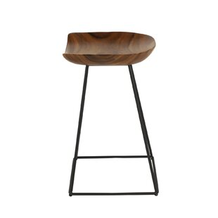 Foote Small Acacia Wood 24 Bar Stool by Union Rustic