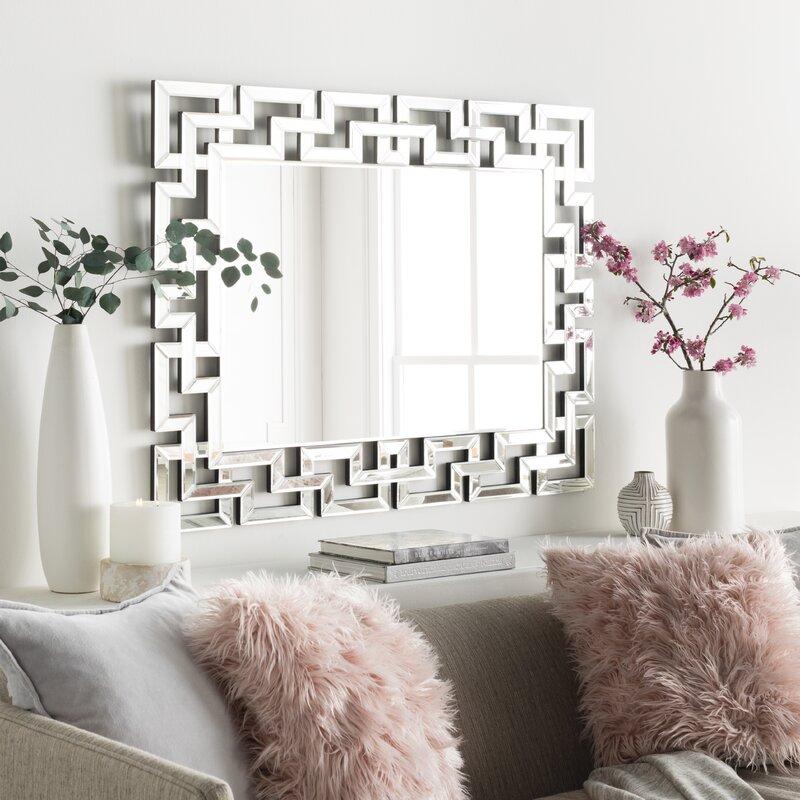 Willa Arlo Interiors Glam Rectangular Accent Wall Mirror ...