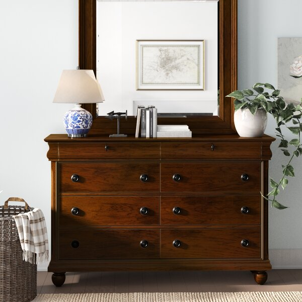 Charlton Home Warlick 8 Drawer Double Dresser With Mirror Reviews Wayfair