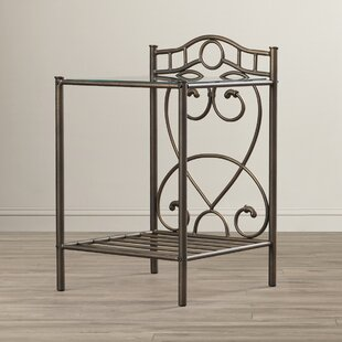 Embossed Metal Nightstand