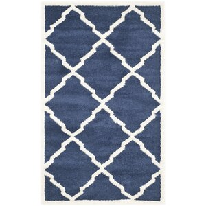 Maritza Navy/Beige Indoor/Outdoor Woven Area Rug
