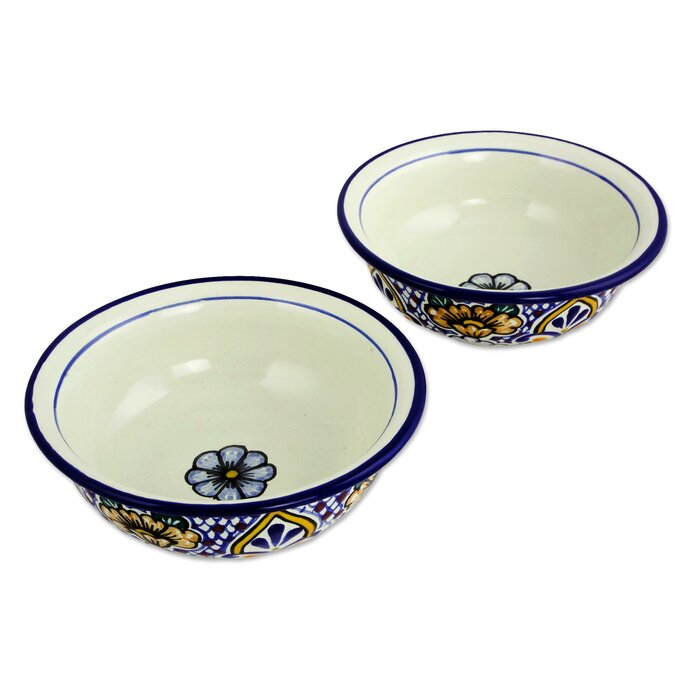 Myhre Sunshine Kaleidoscope Ceramic Soup Bowl (Set of 2)
