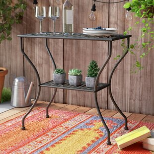 Rosana Iron 2-Tier Patio Table