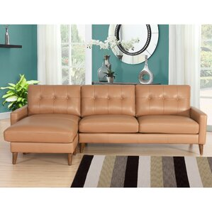 Malaysia Mid-Century Leather Reversible Sectional by Corrigan Studio