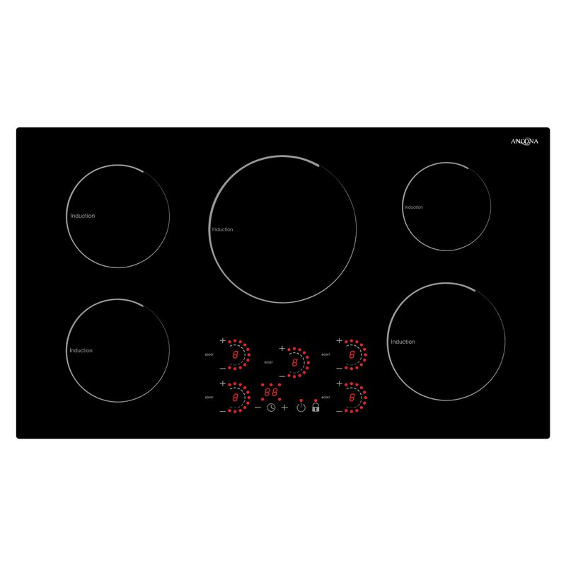 """Ancona 36"""" Induction Cooktop with 5 Burners"""