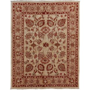 Engleside Hand Knotted Wool Beige Rug by Rosalind Wheeler