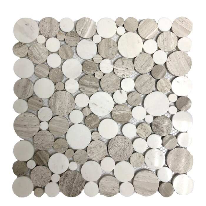 Wooden Ice Mix 04 X 1 Marble Wood Look Tile