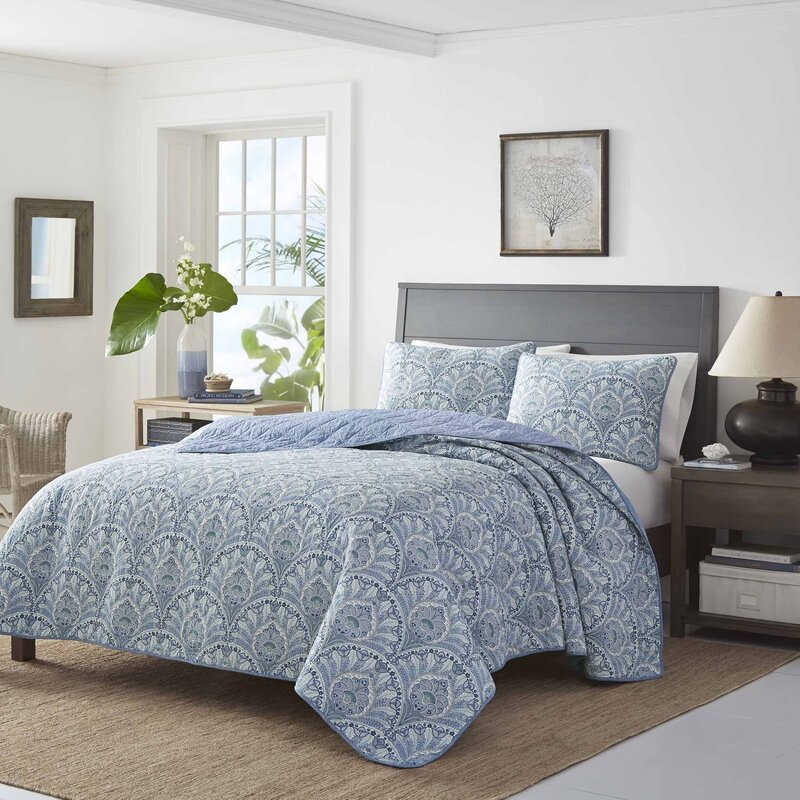 tommy bahama home sea sparkle single reversible quilt reviews