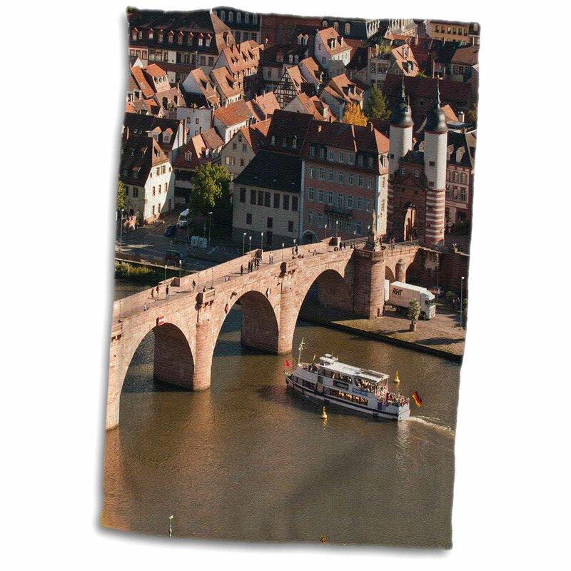 Symple Stuff Chestertown Boat Old Bridge Neckar Heidelberg Germany Michael Defreitas Hand Towel Wayfair
