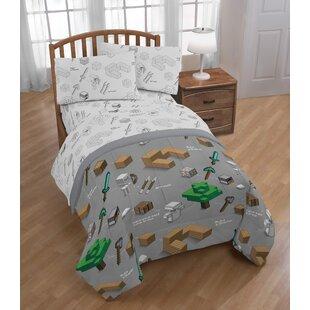 Minecraft Survive Reversible Comforter Set