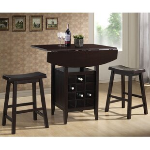 Elida 3 Piece Adjustable Pub Table Set